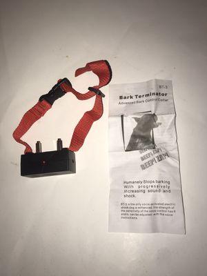 Bark Terminator Bark Collar for Sale in Elgin, TX