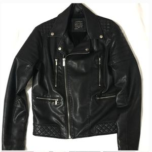 Dios faux leather biker jacket for Sale in New York, NY