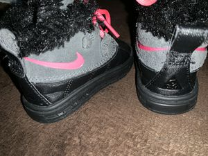 Black Gray And Pink Nike Toddler Boots for Sale in Harrisonburg, VA