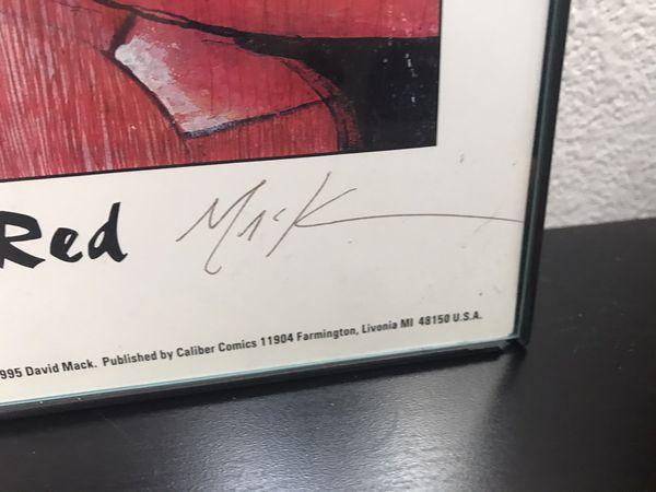"Kabuki ""Lady in Red"" signed print by David Mack"