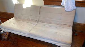 White Leather Futon For Sale for Sale in New Orleans, LA
