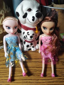 6 frozen Anna and Elsa dolls for Sale in Valley Grande,  AL