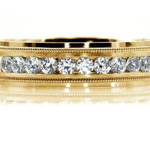 1789YG MENS 14K YELLW GOLD DIAMOND WEDDING BAND RING 6mm 9.6GRAMS for Sale in San Diego, CA