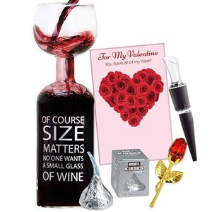 Valentines Gift Set, with giant wine glass, crystal rose, candy, card and more for Sale in Lodi, CA