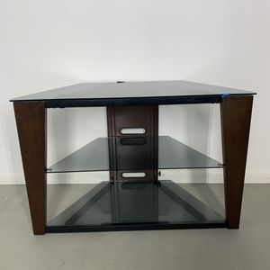 Tv stand with metal frame and 3 glass shelves for Sale in McDonogh, MD