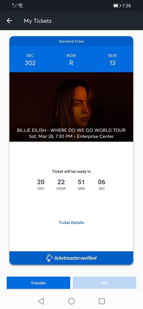 Billie Eilish Ticket