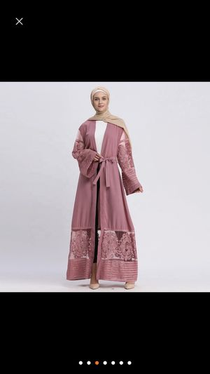 Used, Pink embroidered abaya for Sale for sale  Cleveland, OH