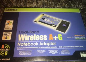 Linksys WPC55AG Dual Band Wireless A+G Notebook Adapter - BRAND NEW! SEALED! for Sale in San Diego, CA