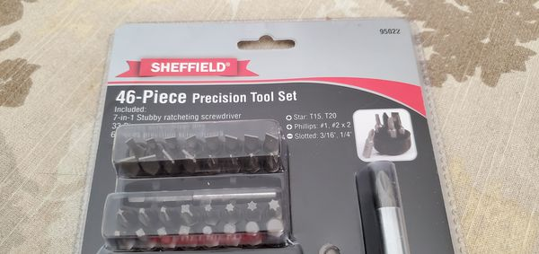 NEW Sheffield 95022 46-Piece Precision Tool Set