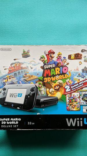 Wii U Super Mario 3D World Deluxe Set for Sale in Ann Arbor, MI