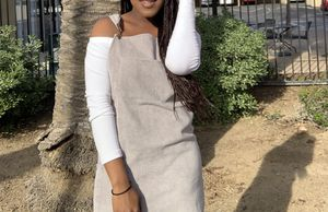 Grey corduroy overall dress for Sale in Menifee, CA