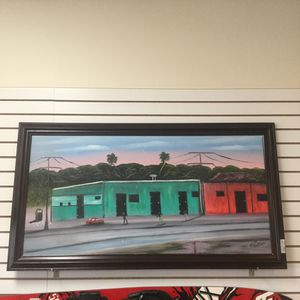 Al Black Highwayman Painting ( Very Rare) Eddies Place in Fort Pierce. Size 29x 52 Wood Frame for Sale in Port St. Lucie, FL
