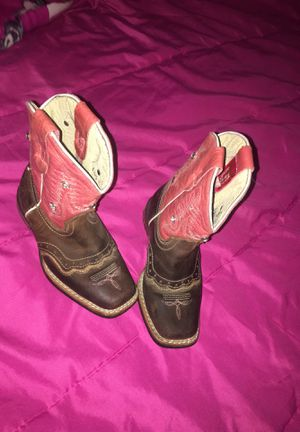 Cowgirl pink with diamond boots almost new. Size 11 girl 16 1/2 from mexico. for Sale in Denver, CO