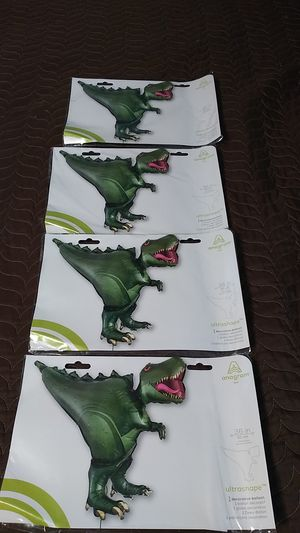 Lot of 4 dinosaur 36 inch decorative ballons for Sale in Houston, TX