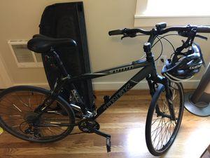 Trek bike with Specialized road tires, helmet, lights, U-lock for Sale in Portland, OR