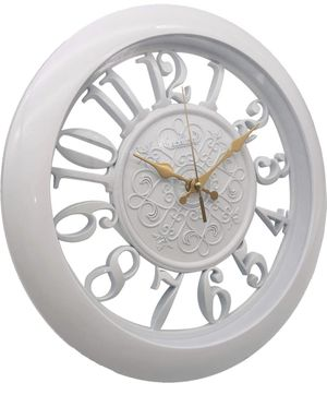 Wall Clocks Battery Operated Non Ticking Kitchen Wall Clock Decor - 13 Inch Large White Wall Clock Silent - Vintage Rustic Wall Clocks for Living Roo for Sale in Edison, NJ