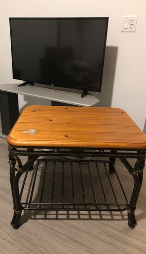 Free table iron and wood length 28 inches width 23 inches high 21 for Sale in Miami, FL