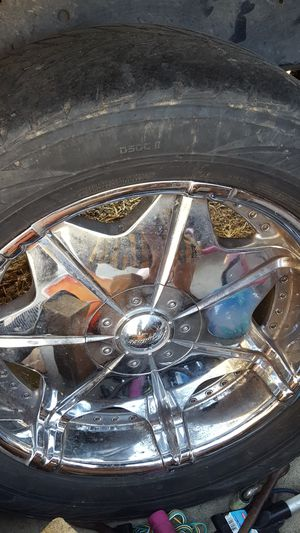 "20"" rims tires are bald for Sale in Wenatchee, WA"