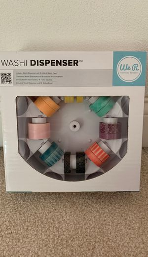 Washi tape and dispenser. Brand new in box for Sale in Peoria, IL