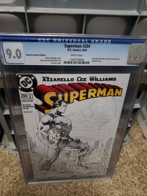 Superman 204 jim lee sketch cgc! Comic for Sale in Margate, FL