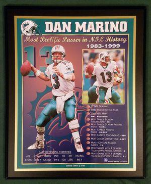 Dan Marino Most Prolific Passer Plaque for Sale in Riverside, CA