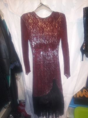 Burgundy Dress With Open Back for Sale in Columbus, OH