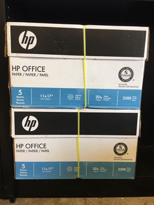 """2 Cases of HP OFFICE 11 x 17"""" Paper for Sale in Hillsboro, OR"""