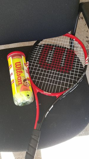 Wilson tennis racket and balls for Sale in Aurora, IL
