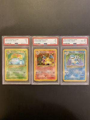 1999 Pokemon Holo Base Set Trio (Charizard, Blastoise and Venusaur) PSA 5/6 for Sale in Fremont, CA