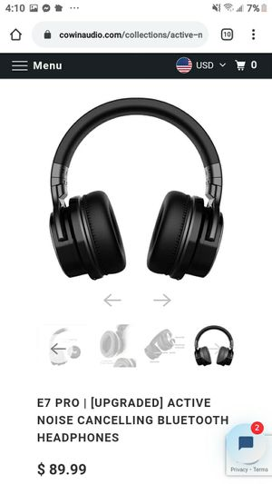 Cowin active noise cancelling wireless bluetooth headphones with zip up case for Sale in Portland, OR