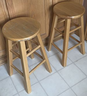 Oak bar stools (2) for Sale in Blacklick, OH