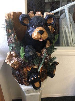 Unique bear decoration. Faux wood design for Sale in Westminster, CO