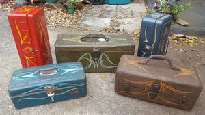 Pinstriped Vintage Toolbox/Tackle/Utility Box for Sale in Orlando, FL