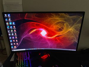 """ASUS ROG Strix 37"""" Curved Gaming Monitor full HD 1080 p 144 hz DP HDMI DVI FULLY adjustable function (XG27VQ) for Sale in Palm Desert, CA"""