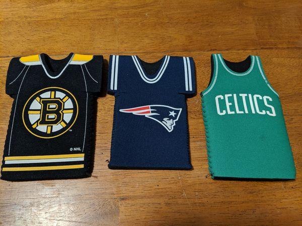 Boston sports team beer jersey koozies