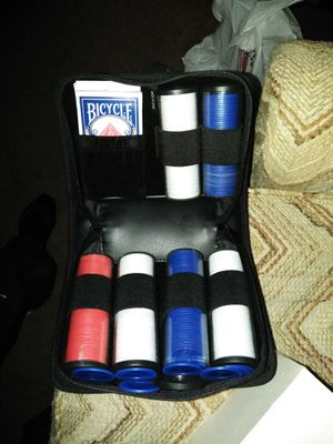 Poker set in case for Sale in Hillsboro, OR