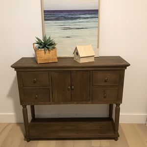 Real solid wood beautiful cabinet / dresser / console entry table 14 in deep 42 in long 34 in tall for Sale in Peoria, AZ