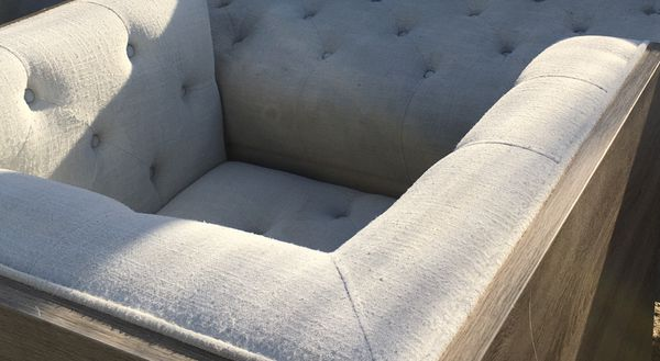 Couch, love, chair kind of scuffed up from move but still Have some life left