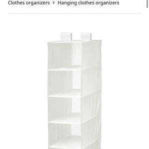 Grey Hanging Closet Organizer for Sale in Brownsville, TX