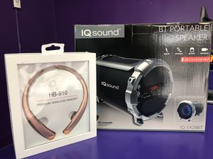 Entertainment bundle! $65.00 +tax for both speaker and headset GREAT DEAL YOU CANNOT MISS! for Sale in Chicago, IL