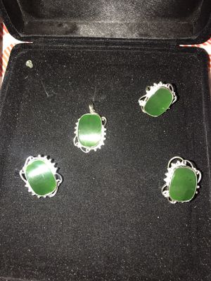 Green jade silver set for Sale in Burbank, CA