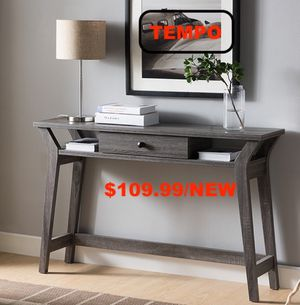 Console Table/ Display Cabinet, Distressed Grey , SKU # 171973 for Sale in Downey, CA