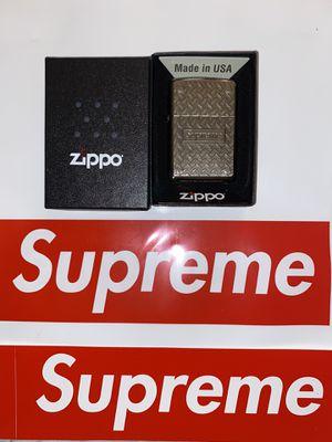 Supreme Diamond Plate Zippo Metal for Sale in Houston, TX