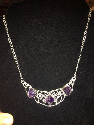 Gorgeous amethyst & sterling silver necklace for Sale in West Richland, WA