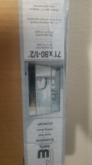 Sliding closet doors 71 x 80-1/2 mirrored for Sale in Martinez, CA
