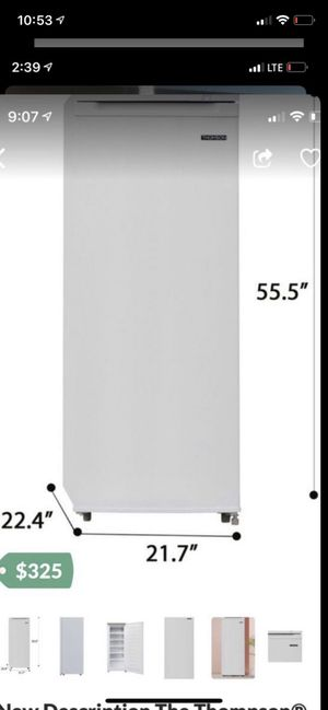 New stand up freezer Upright Freezer (6.5 cu. ft.) is a space-saving, small upright freezer. It is the perfect fit for the garage, dorm or basement a for Sale in Fresno, CA