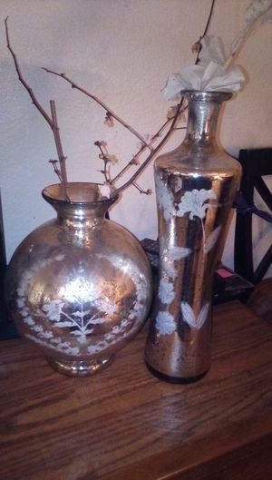 Fake flower vase set .. San Francisco Mercury vase for Sale in Rocklin, CA