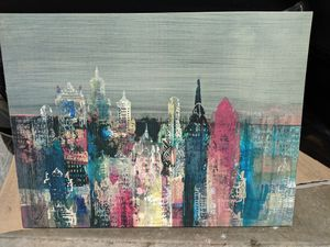 Large beautiful wall painting city colorful art house decoration for Sale in Long Beach, CA