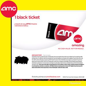 AMC Black Ticket Movie. No Exp. Any movie, Anyday for Sale in Newport Beach, CA