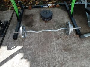 1 inch curl bar $75 1 inch curl bar with 50 lb $150 for Sale in West Hempstead, NY